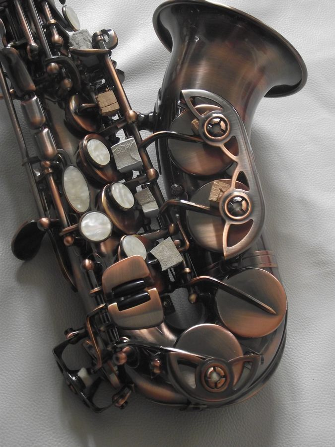 Saxophone Soprano antique avancé Saxophone SOPRANO courbé