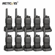 10 шт RETEVIS RT40 DMR цифровой PMR радиостанции Walkie Talkie ФРС/PMR446 446 MHz 0,5 W VOX зарядка через usb частное/групповой вызов двухстороннее радио