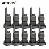 10pcs RETEVIS RT40 DMR Digital PMR Radio Walkie Talkie FRS/PMR446 446MHz 0.5W VOX USB Charging Private/Group Call Two Way Radio