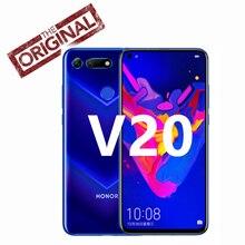 מקורי הכבוד להציג 20 Smartphone כבוד V20 אנדרואיד 9 6GB/8GB RAM 128GB/256GB ROM תמיכה NFC תשלום מהיר נייד טלפון