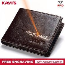Кавис Rfid высокое качество чехол из натуральной кожи Для мужчин портмоне portomonee портфель держатель для карт мужской Cuzdan Perse Мода