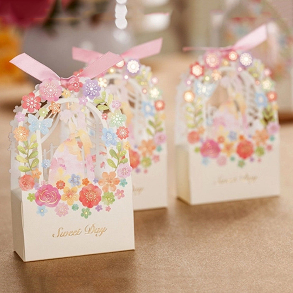Romantic Wedding Gift Box Elegant Luxury Decoration Flower ...