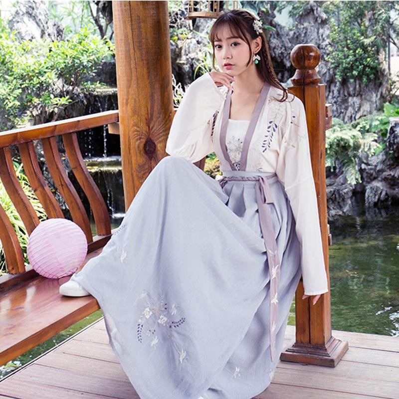 Hanfu Women Chinese Dance Costumes Qing Dynasty Costume Chinese Hanfu Traditional Chinese Dress