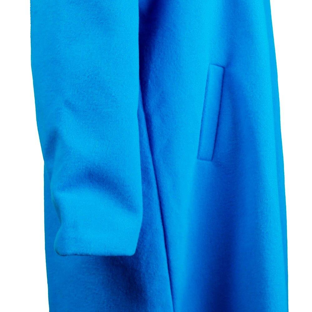 Women Autumn Winter Woollen Coat Long Sleeve Turn-Down Collar Oversize Blazer Outwear Jacket Elegant Overcoats Loose Plus Size 10