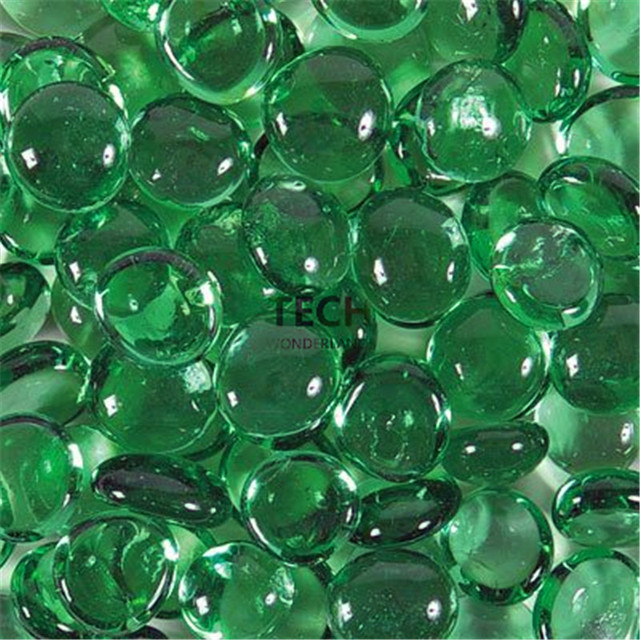 250g Approx 50 Pieces Flat Green Glass Marbles For Vase Filler