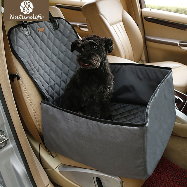 Naturelife Waterproof Dog Car Seat Cover Pet Rear Carrier Mat Blanket Hammock Dog Car Seat Back Protector Safe Dog Accessories