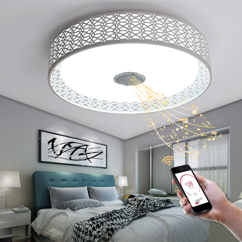 D47cm rgb music lamp modern led chandelier with bluetooth control d47cm rgb music lamp modern led chandelier with bluetooth control color changing led chandelier lighting for living room bedroom in chandeliers from lights aloadofball Choice Image