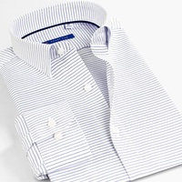 Smart Five Dress Shirts Striped Men Shirts 5xl Cotton Long Sleeve Formal Shirts for Men Office Business camisa masculina
