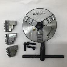 80 мм 3 дюйма 3 самоцентрирующаяся челюсть токарный патрон SANOU K11-80 K11 80 с металлическим шариком патроны для сверлильно-фрезерный станок