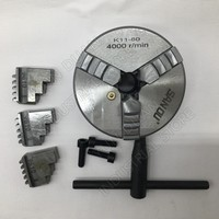 80mm 3 Inch 3 Jaw Self Centering Lathe Chuck SANOU K11 80 K11 80 Metal Scroll Chucks for Drilling Milling Machine