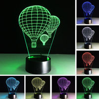 Hot Air Balloon 3D Novelty Light lampada Led Table Lamp 7 Colors Touch Night light Creative night light baby Kids Gift