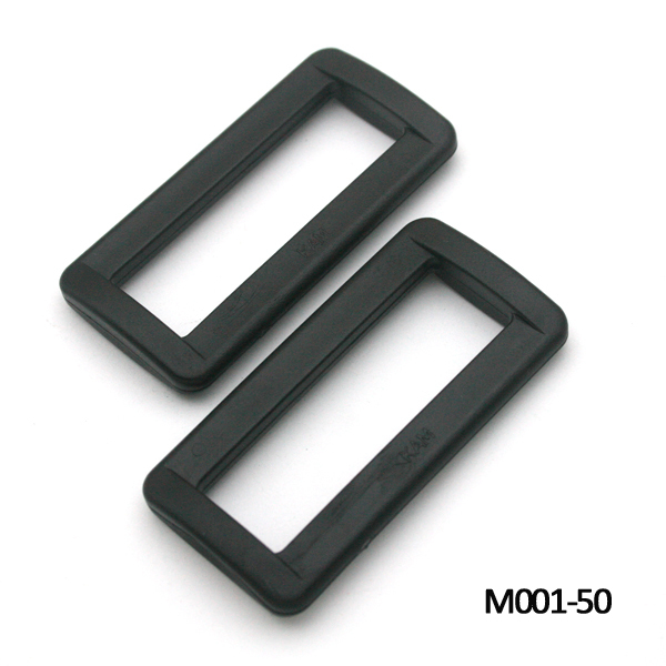 Wholesale Free shipping 60pcs 50mm 2inch black buckles plastic slider buckle  square ring backpack webbing straps e9cf38b07ac2e
