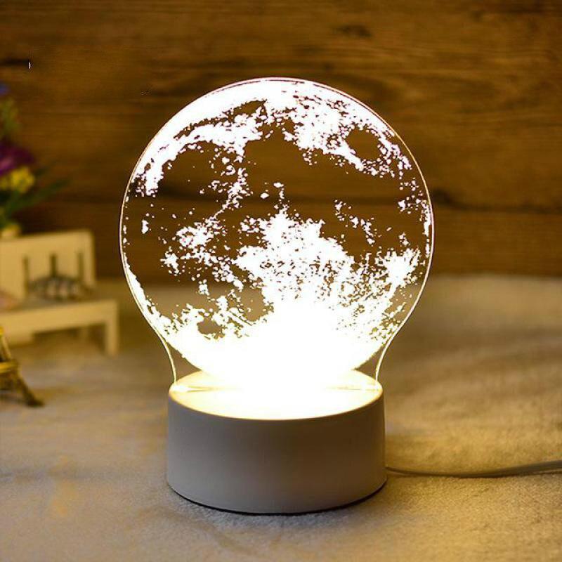 3D Nightlight Creative Cartoon LED Lamp Elk Novelty Luminaria Led Kids Room Led Night Light Plug Kids Lamp