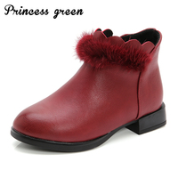 Size26 36 Brand Children S Boots Winter Plus Short Plush Keep Warm Ankle Girls Boots Fashion