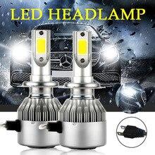 2 шт. фар автомобиля H7 LED H4 72 Вт 7600lm 6000 К белый H1 H3 H11 H8 H9 9005 HB3 9006 авто спереди света Противотуманные лампы automobilelamp