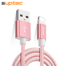 SUPTEC USB Cable for iPhone Data Sync Fast Charging Cable for iPhone SE 5 5s 6 6s 7 8 plus X iPad mini air2 iPod Charger Cable