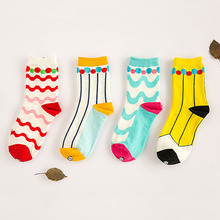 free shipping 150pairs/LOT Socks Women New Cute Ball Wave Lovely Candy Color Cotton Women's Socks Girls Sock Slippers