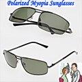 Custom Made MENOS PRESCRIÇÃO Polarized MÍOPE de Condução dos homens da liga Al Mg preto sunglasses-1-1.5-2.0-2.5-3 a-6
