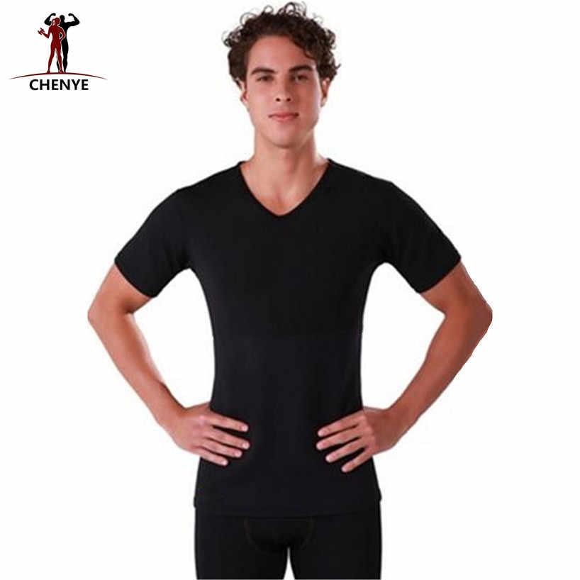 2018 мужские Шейперы футболка с коротким рукавом модные Футболки-топы плюс Размеры 5XL корсеты, корректирующие фигуру, утягивающие рубашка неопрена коррекция фигуры, тренировка для талии