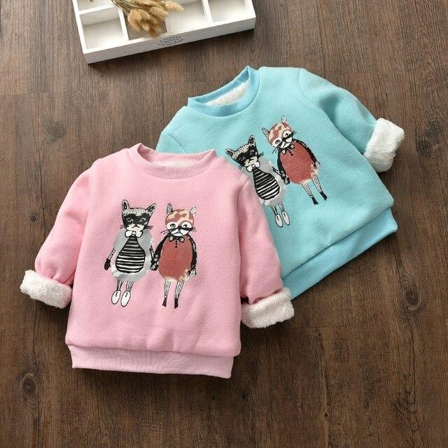 2017 Осень и зима новая детская рубашка плюс бархат толстый свитер для мальчиков и девочек хлопок теплая куртка пальто детская одежда
