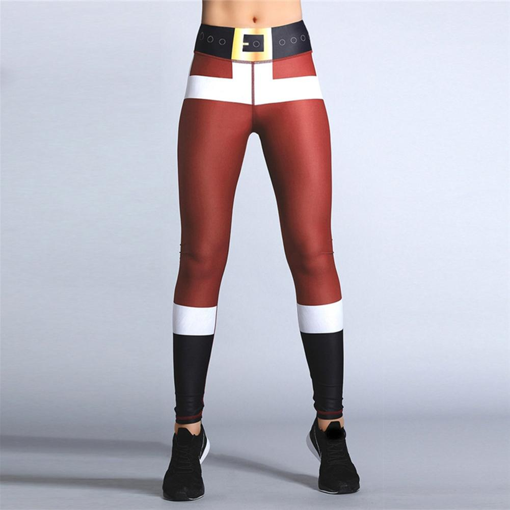 Fashion Christmas   Leggings   Women High Waist Skinny Long Pants Stretchy Workout