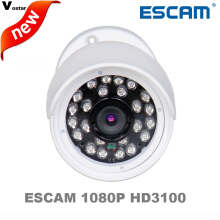 Free shipping ESCAM HD3100 1080P outdoor waterproof Onvif IR IP66 Waterproof IR 20M MINI Bullet cctv IP Camera with Built-in POE