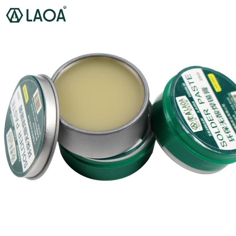 LAOA pas-Acide SMD À Souder Pâte 2 Boîtes 25g/1 boîte 50g pack Flux Graisse 10cc outil de réparation de Soudure PCB