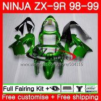 Cuerpo para Kawasaki Ninja zx900 zx-9r 98-99 ZX 900 zx9 R verde brillante 20sh1 900cc ZX 9 R zx9r 98 99 ZX 9r 1998 1999 Kit de carenado