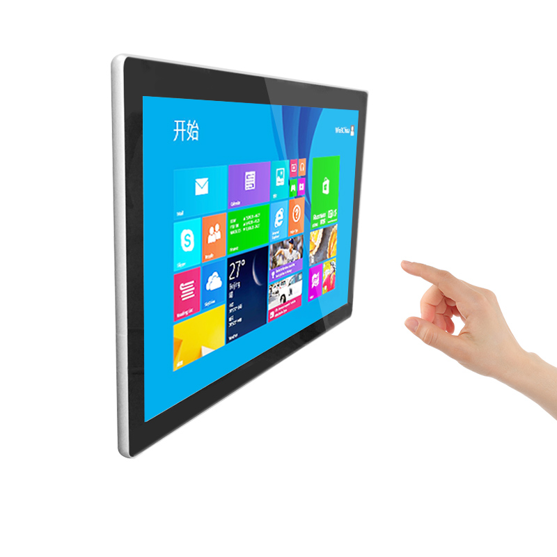 Win 10 White 15 6 inch Free bezel touch screen all in one pc