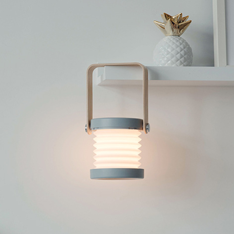 Image 2 - Nowa kreatywna drewniana rączka przenośna latarnia lampa teleskopowa składana lampa stołowa led ładowanie lampka nocna lampka do czytaniaLampy na biurko   -