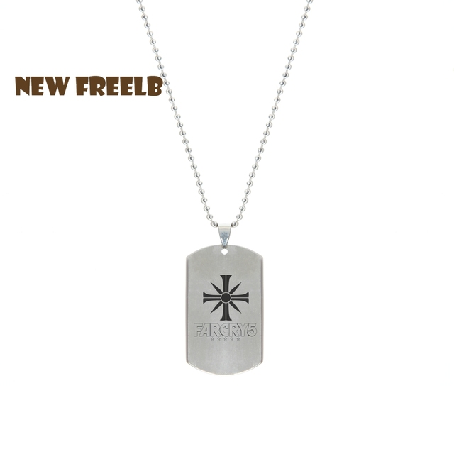 New Fashion Jewelry Far Cry 5 Cult Hope County Necklaces Stainless Steel Pendant Laser Printing No Rust For Women Men Fans Chain Necklaces Aliexpress