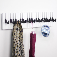 High Quality Decorative Wall Hooks Hangers For Clothes Keys Coat Clothes Wood Wall Shelf Bathroom Kitchen