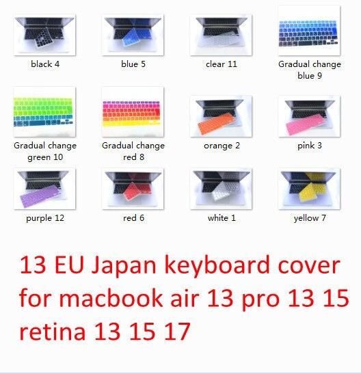 10 Unids Ue Japonés Suave Teclado De Silicona Protector De La Piel Películas Para Apple Macbook Air Pro 13 ''15'' Nueva Llegada Meafo Materiales Superiores