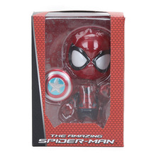Mini 10cm Marvel Toys Deadpool Figure Bobble-Head 1/10 Scale Pre-painted Spider man Black Panther Collectible Model Dolls Toy