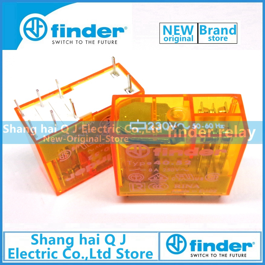 Brand new and original finder 40.52.8.230.0000 type 40.52 230VAC 8A relayBrand new and original finder 40.52.8.230.0000 type 40.52 230VAC 8A relay