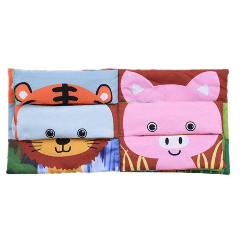 Baby Rattle Toys Soft Books Infant Animal Pattern Cloth Books Baby Goodnight Educational Cloth Book Cognition Toy 2019