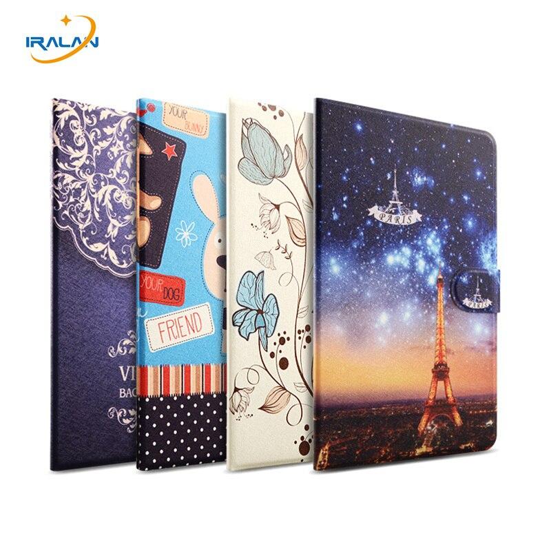 Ультра тонкий смарт кожаный чехол для Huawei MediaPad M2 8.0 M2-801W M2-803L 8.0 дюймов Tablet Окрашенные мультфильм шаблон обложка + пленка + ручка