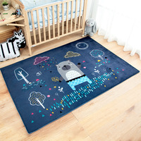 Fashion Cartoon Unicorn Carpet For Bedroom Animal Living Room Floor Mat Coffee Table Bed Front Rug Delicate Kids Climbing Rug