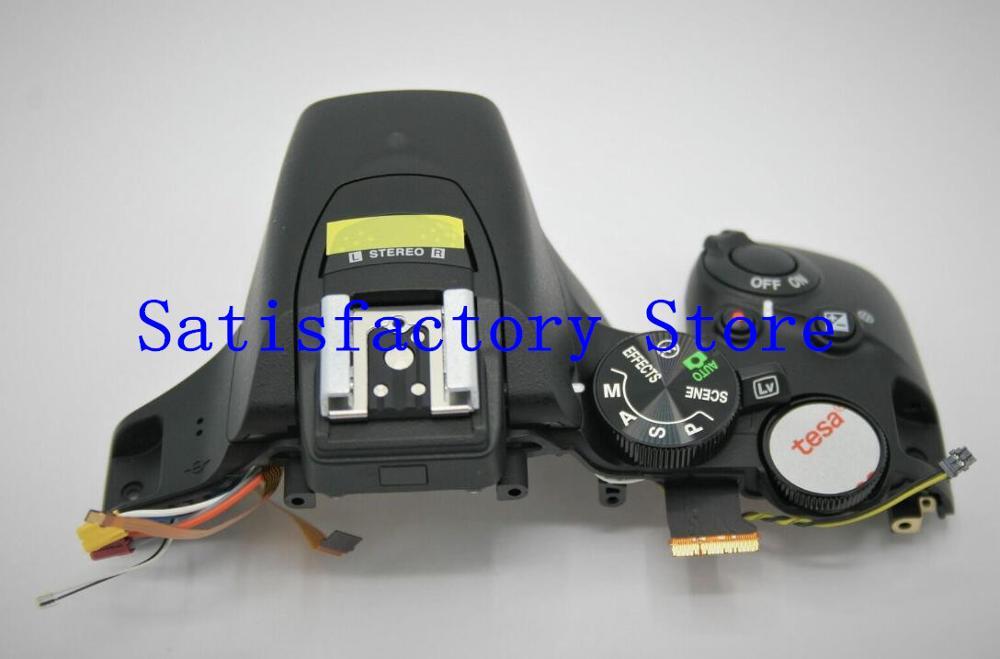 95%Original For Nikon D5600 Top Cover Case Frame with Flash Dial Mode Flex Cable Button|Camera Modules| |  - title=