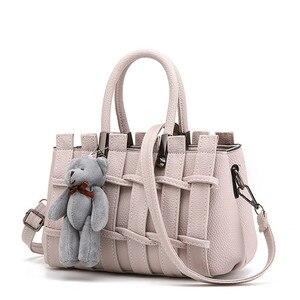 Image 5 - をモネcauthy女性のバッグ簡潔な甘い女性レジャーファッションクロスボディトートバッグ無地ラベンダーピンクグレーブラックホワイトハンドバッグ