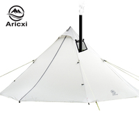 3 4 Person Ultralight Outdoor Camping Teepee 20D Silnylon Pyramid Tent Large Rodless Tent Backpacking Hiking Tents