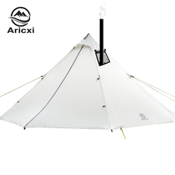 3-4 Person Ultraleicht Outdoor Camping Tipi 20D Silnylon Pyramide Zelt Große Kolbenstangenlosen Zelt Trekking Wandern Zelte