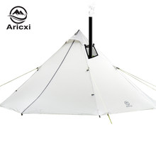 3-4 Persoon Ultralight Outdoor Camping Teepee 20D Silnylon Piramide Tent Grote Stangloze Tent Backpacken Wandelen Tenten(China)