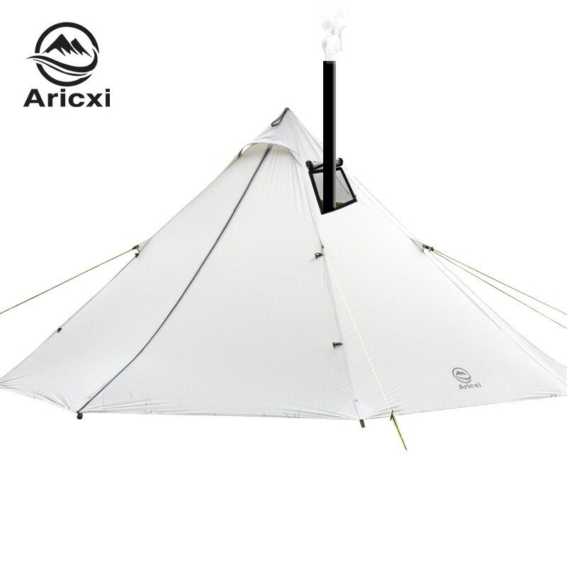 3-4 personnes ultra-léger Camping en plein air tipi 20D Silnylon pyramide tente grande tente sans tige sac à dos randonnée tentes