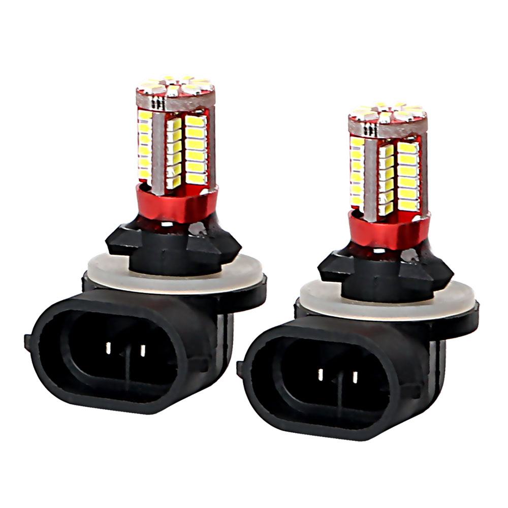2pcs Auto Daytime Running Lights Bulb 57 SMD 3014 881 Super Bright DRL Car Front Fog Lamp Head Light Lamp LED Headlight h1 super bright white high power 10 smd 5630 auto led car fog signal turn light driving drl bulb lamp 12v