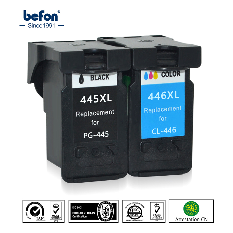 befon Re-Manufactured 445 446 XL Ink Cartridge Replacement for Canon PG-445 CL-446 PG445 CL446 for ip2840 MG2440 2540 2940 494 pg 445 cl 446 cartridge pg 445 cl 446 ink cartridge for canon pg445 for canon pixma ip2840 mg2440 mg2540 mg2940 mx494 printer