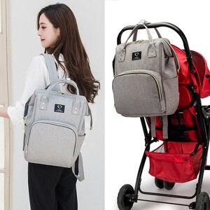 Image 4 - Bolsa de pañales para bebés, mochila para madres, bolsas de pañales, maternidad, lactancia, gran capacidad, impermeable, bolso de viaje para cochecito