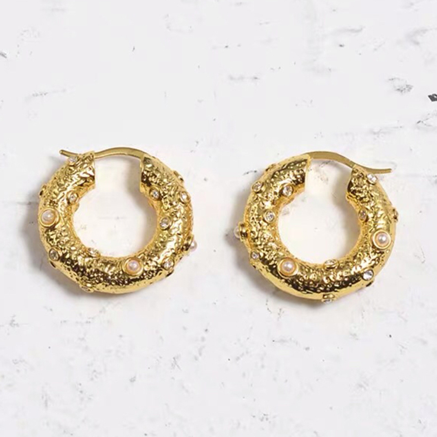 Fashion Luxury Brand Jewelry Gold Vintage Hoop Earrings AAAA+ Zricon Natural Freshwater Pearl Small Circle Earrings For Women Fashion Luxury Brand Jewelry Gold Vintage Hoop Earrings AAAA+ Zricon Natural Freshwater Pearl Small Circle Earrings For Women