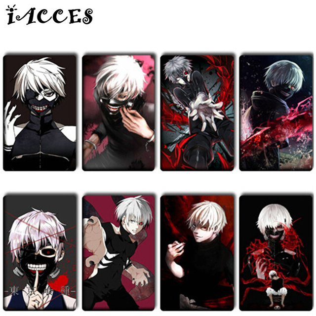 10 pcs lot tokyo ghoul card sticker toys 86mm54mm japanese anime diy bank