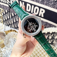 GOOD LUCK Sword Spinning Watches for Women Luxury Full Crystals Dress
